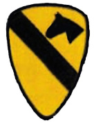 NEW 1st Cavalry Division 13cm Patch - Ships in 24 hours