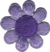 Daisy Flower - Purple with Dark Centre - Embroidered Sew or Iron on Patch
