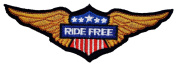 Ride Free Wing Motorcycles Vintage Biker Racing BR02 Iron on Patches