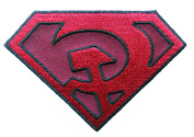 Anti Superman Red Son Logo Soviet USSR Super Hero [6.4cm ] Hat Patch