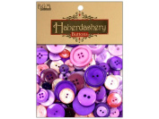 Buttons Galore Haberdashery Button, Purples