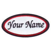 Oval Custom Embroidered Name Tag Sew On Patch