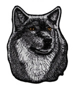 Wolf Animal Wildlife DIY Embroidered Sew Iron on Patch