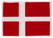 Denmark Flag Embroidered Patch 12cm X 9cm