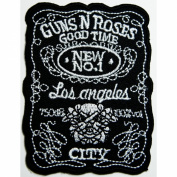Guns N Roses patches 6x8 cm Rock Music Band Patches Embroidered iron/sew on Patch to Cloth, Jacket, Jean, Cap, T-shirt and Etc.