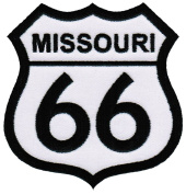 Route 66 Missouri Embroidered Patch Iron-On Highway Road Sign Biker Emblem