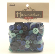 Buttons Galore Haberdashery Button, Blues