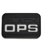 Black OPS PVC hook and loop Morale Patch