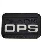 Black OPS PVC hook and loop Morale Patch