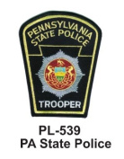 7.6cm State Police Embroidered Patch PA State Police