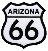 Route 66 Arizona Embroidered Patch Iron-On Highway Road Sign Biker Emblem