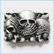Brand:choi NEW Casino Three Smiling Skulls Belt Buckle Cs-041bk