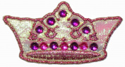 Princess Crown Girls Metallic Iron On Applique Patch