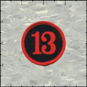 Number 13 Embroidered Iron On Badge Applique Patch FD