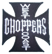 West Coast Choppers Custom Bikes jesse james Bicycles Black Sign BW05 Patches