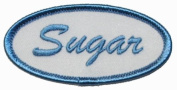Sugar Novelty Name Tag Iron On Uniform Patch