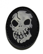 Glow in the Dark Skull PVC hook and loop Patch