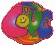 Psychedelic Hippie Love Iron On Patch