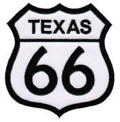 Route 66 Texas Embroidered Patch Iron-On Highway Road Sign Biker Emblem