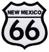 Route 66 New Mexico Embroidered Patch Iron-On Highway Road Sign Biker Emblem