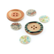 BasicGrey Serenade Wood and Shell Buttons