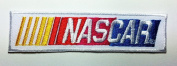 White Nascar Patches 9.8x2.5 Cm Sew/iron on Patch to Cloth, Jacket, Jean, Cap, T-shirt and Etc.