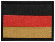 "German Flag (Large) Embroidered Patch 13cm x 10cm (approx) 5"" x 4"""