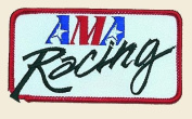 AMA Racing Logo Embroidered Iron on or Sew on Patch