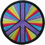 Peace Sign Psychedelic Hippie Embroidered Iron On Patch