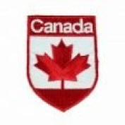 Canada Country Flag OVAL SHIELD Embroidered Iron on Patch Crest Badge 5.1cm X 6.4cm .. New