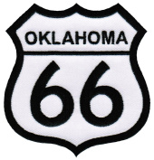 Route 66 Oklahoma Embroidered Patch Iron-On Highway Road Sign Biker Emblem