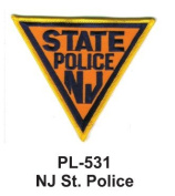7.6cm State Police Embroidered Patch NJ St. Police