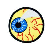 Okutani Eye Ball Iron-On Patch.