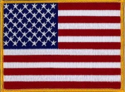 """USA (Stars and Stripes) Large Embroidered Patch 13cm x 10cm (approx) 5"""" x 4"""""""