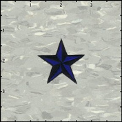 3.8cm Nautical Tattoo 3D Star Embroidered Iron On Applique Patch FD - Blue
