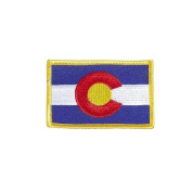Colorado USA State Flag Iron on Patch Crest Badge .. 5.4cm X 8.3cm ... New