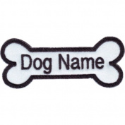 Custom Dog Name (White Bone) Embroidered Sew On Patch