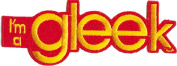 """Glee """"I'm a Gleek"""" - 10cm Sew / Iron On Embroidered Patch"""