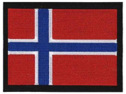 Norway Norwegian Flag Embroidered Patch 13cm X 10cm