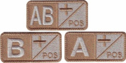 Blood Type Sand Embroidered Sew On Patch