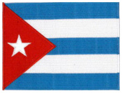 """Cuba Embroidered Patch 13cm x 10cm (approx) 5"""" x 4"""""""