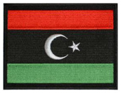"Libya (New) Flag Embroidered Patch 13cm x 10cm (approx) 5"" x 4"""