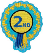 "2nd Rosette Embroidered Patch 6cm x 8cm (3"" X 2 1/2"") Sew On/ Iron On"