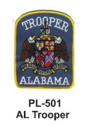 7.6cm State Police Embroidered Patch Al Trooper