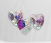 40mm. Immitation Crystal AB Large Heart Pendant