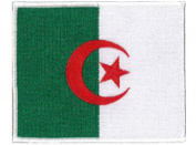 Algeria Flag Embroidered Patch 12 X 8.5CM