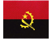 Angola (embroidered) Country Flag Patch 12 cm x 9cm