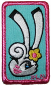 Artist DL Norton Cute Charming Bunny Embroidered Iron On Applique Patch FD