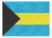 Bahamas Flag Embroidered Patch 12 X 9CM