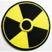 Biohazard patches 7.5x7.5 cm BP2 Symbol Sign Danger Poison Toxic Warning patches sew/iron on Patch to Cloth, Jacket, Jean, Cap, T-shirt and Etc.